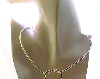 MADE TO ORDER Knot An Ordinary Kind of Love-12 g Argentium Lockable Shibari Theme Slave Collar