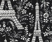 Reserved for Gail - Michael Miller Eiffel Tower EBONY Cotton Quilting Fabric Towers