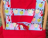 SALE - Apples and Pears Mei Tai Baby Carrier
