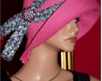 1920 style Flapper Hat Cloche Hat Derby Hat Church Hat Tea Flapper Hat Wedding