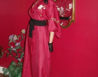 Kimono Burgundy Exclusive Embroidery  Handmade Size one