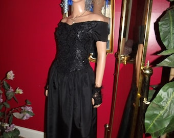 Vintage Evening Beaded  Tea Party Dress Flapper  does 20-30s  Theme Size 7
