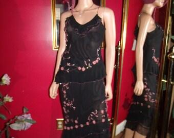 Vintage 2-pc Skirt Top  Dress Flapper Evening does 20-30s Size 4