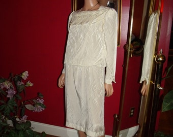 Vintage 80s Melissa  Flapper Dress  does  Teacher Office Lady   Size8