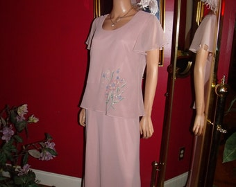 Vintage 80s Dress Flapper does T Ford style  MissDorby  Size12