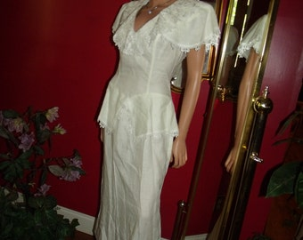 Vintage80-91s Weddings Dress Bridal  Victorian accent   Collar