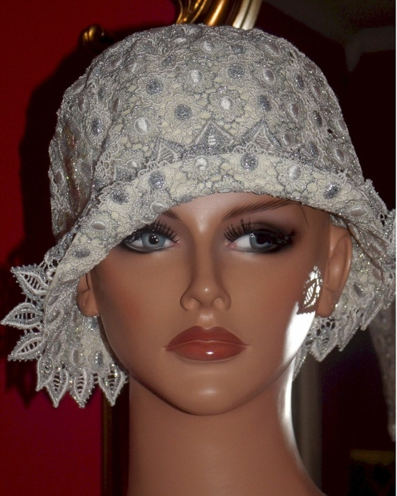 Wedding Hat 1920s Hat Flapper Hat Cloche Bridal Church