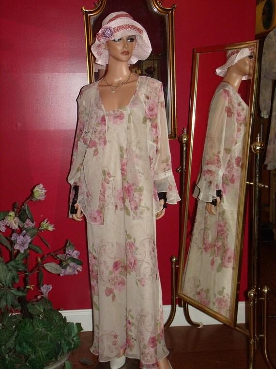 Vintage Dress Flapper Bolero  2-pc Deco does 20-30sSize  Plus