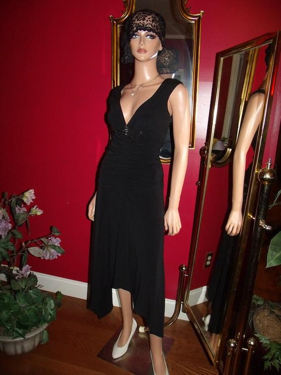 Vintage Flapper Dress  Black Tea Party does 20s-30s  Size 6