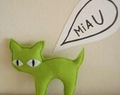 Fluor Green Kitten