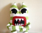 Angry Monster Striped - Made to Order