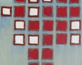 Original Abstract Painting featuring pattern and repetition by Brad Terhune