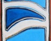Original abstract painting waves ocean beach