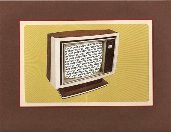 Original Collage Wilco 'Kicking Television'