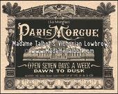 Paris Morgue Death House Victorian Lowbrow Cadaver Poster