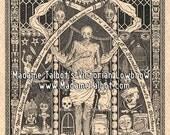 Seattle Ye Olde Curiosity Shop Mummy Shrunken Head Anatomy Morbid Victorian Lowbrow Poster