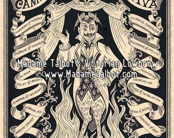 That Old Devil Cannabis Sativa Marijuana Weed Pot Victorian Lowbrow Poster