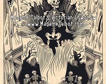 Corpse Flower Skeleton Victorian Lowbrow Madame Talbot Poster Print