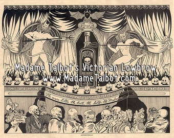 Victorian Drugs Quack Medical Poster Madame Talbot's Victorian Lowbrow