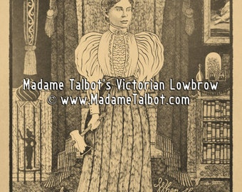 Lizzie Borden Took an Ax Victorian Crime Gothic Lowbrow Murder Poster