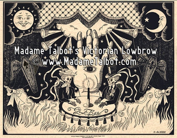 Victorian Lowbrow Houdini Halloween Seance Poster