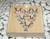 Bun Buns wood mounted Rubber Stamp from Penny Black