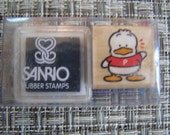 Pekkle wood mounted Rubber Stamp with inkpad from Sanrio