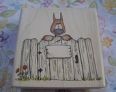 Barnaby Whipper Snapper wood mounted Rubber Stamp  EtsySale