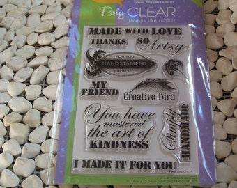 Artsy Messages Hero Arts Clear Unmounted Stamps - 10 pieces
