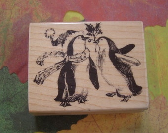 Cheerful Giving Penny Black wood mounted Rubber Stamp