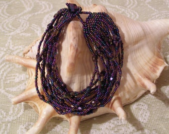 Wisteria Lane Beaded OOAK Bracelet