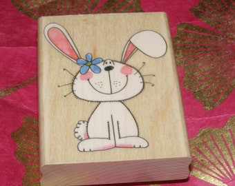 Bun Bun Bunny wood mounted Rubber Stamp from Penny Black