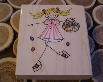 So Eggciting wood mounted Rubber Stamp from Penny Black