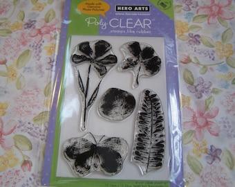 Watercolor Petals Hero Arts Clear Unmounted Stamps - 5 pieces