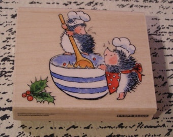 Christmas Mix Penny Black wood mounted Rubber Stamp