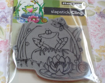 Toadily Happy Slapstick Penny Black Cling foam-mounted Stamp