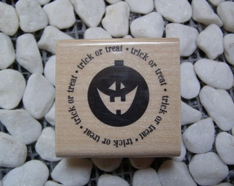 Halloween Seal wood mounted Rubber Stamp from Penny Black