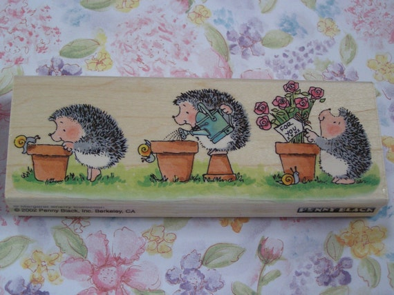 Labour of Love Penny Black wood mounted Rubber Stamp