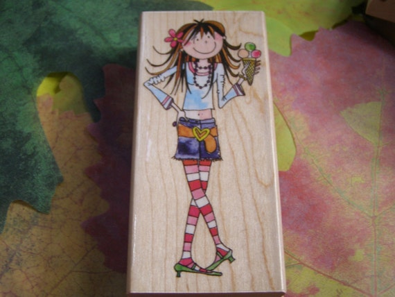 Hot but Cool wood mounted Rubber Stamp from Penny Black