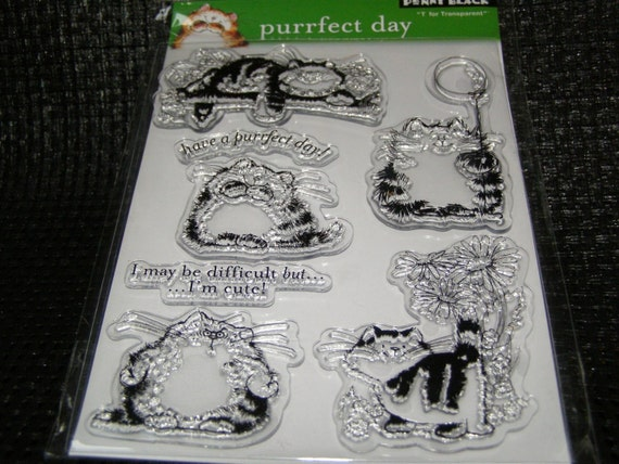 Penny Black Purrfect Day set of Clear Unmounted Stamps - 7 pieces