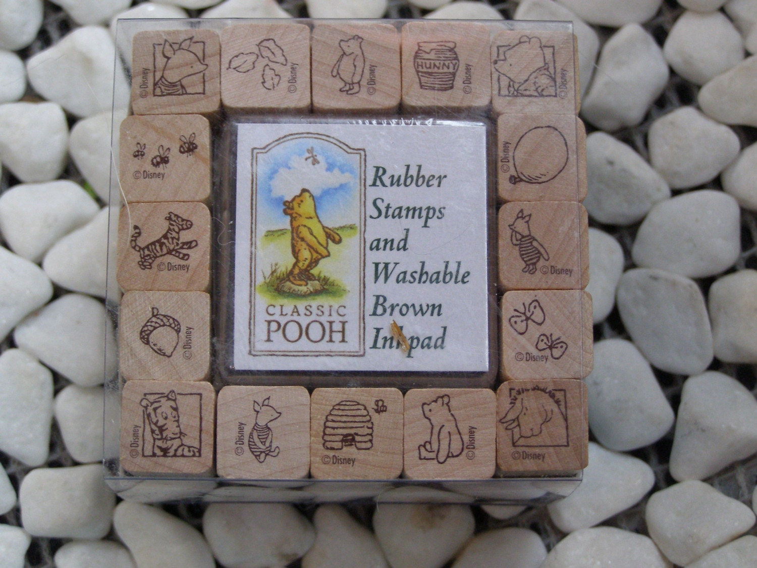 Classic Winnie The Pooh Wood Mounted Rubber Stamp Set 16
