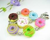 Fun Donut Bracelet - Food Jewelry, food bracelet, doughut, donut jewelry