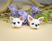 White French Bulldog Earrings