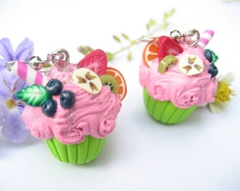 Fruity Cupcake Earrings