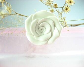 Lovely White Rose Ring
