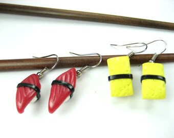Nigiri Sushi Earrings (2 pairs)