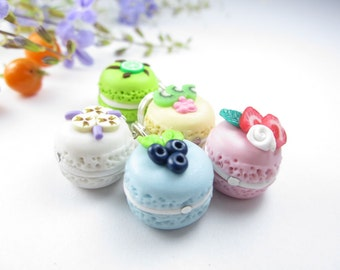 Fruit Macarons Stitch Markers (Set of 5)