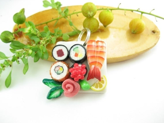 Maki and Ebi Lovely Sushi Pendant