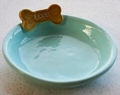Personalized Dog Bowl Dish - 7 inches - Custom Made to Order