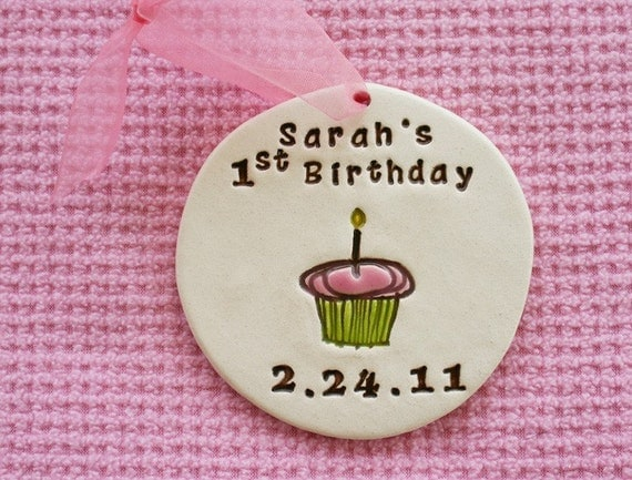 Personalized First Birthday Ornament For Baby By